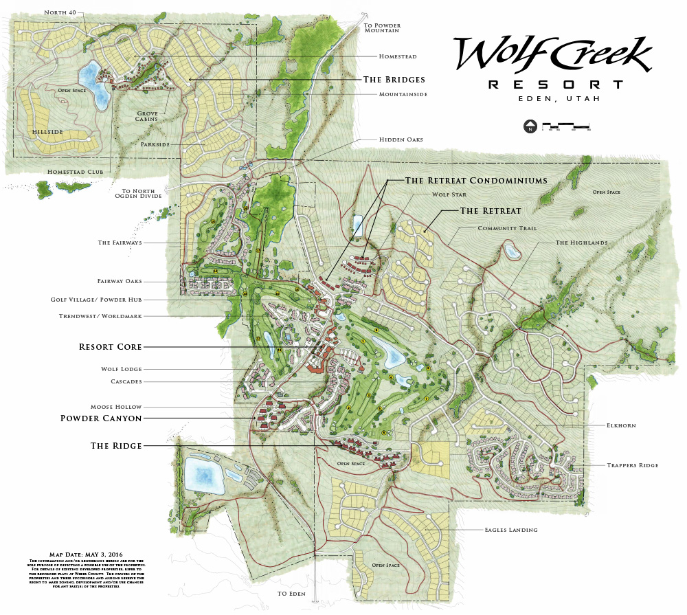 Wolf Ceeek Resort Map