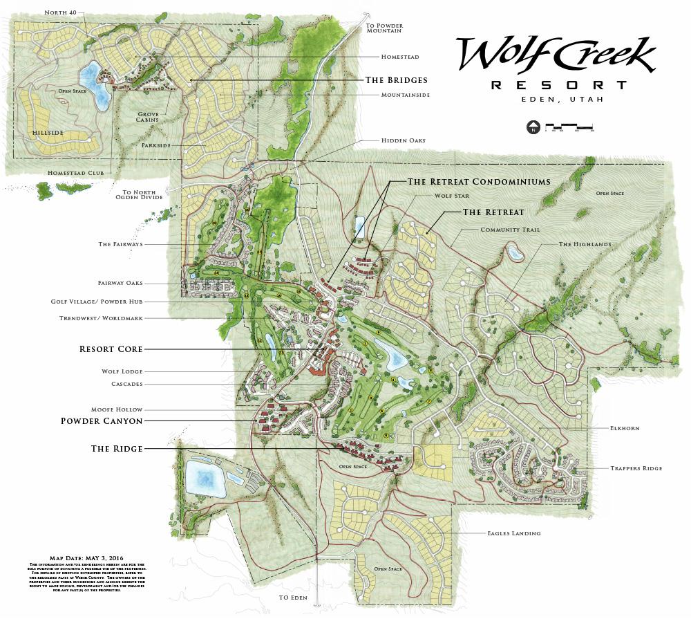 Wolf Ceeek Resort Map
